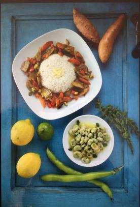 riso al limone con verdure