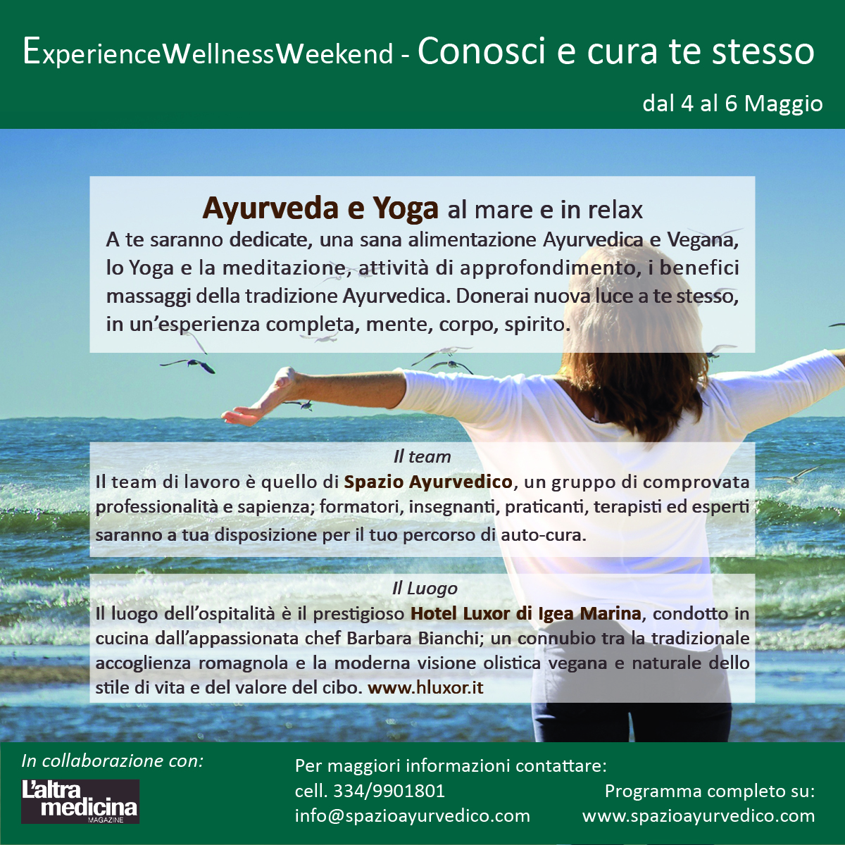 wellness weekend 4-6 maggio con programma leggeri